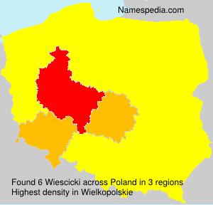 Surname Wiescicki in Poland