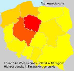 Surname Wiese in Poland