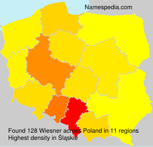 Surname Wiesner in Poland
