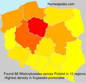 Surname Wietrzykowska in Poland