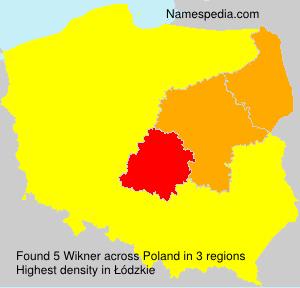 Surname Wikner in Poland