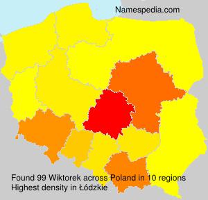 Surname Wiktorek in Poland