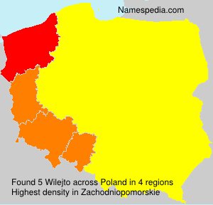 Surname Wilejto in Poland