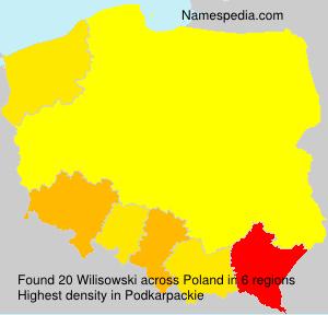 Surname Wilisowski in Poland