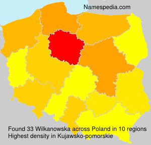 Surname Wilkanowska in Poland