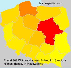 Surname Wilkowski in Poland