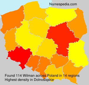 Surname Wilman in Poland