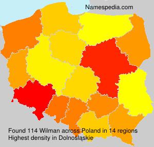 Familiennamen Wilman - Poland