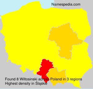 Surname Wiltosinski in Poland