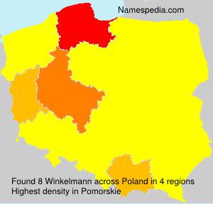 Surname Winkelmann in Poland
