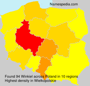 Surname Winkiel in Poland
