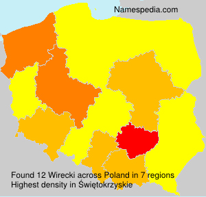 Surname Wirecki in Poland