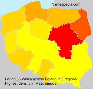 Surname Wiska in Poland
