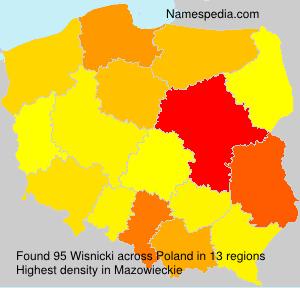 Familiennamen Wisnicki - Poland