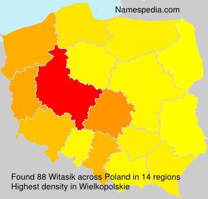 Surname Witasik in Poland