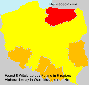Surname Witold in Poland
