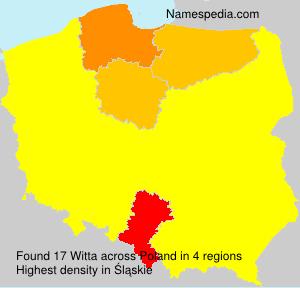 Familiennamen Witta - Poland