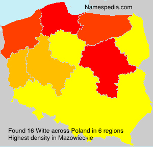 Surname Witte in Poland
