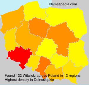 Familiennamen Witwicki - Poland