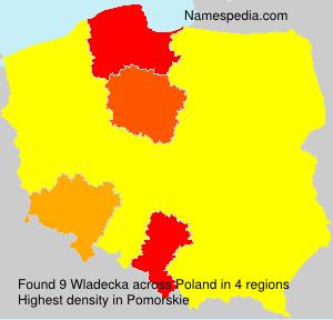 Surname Wladecka in Poland
