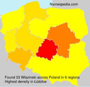 Familiennamen Wlazinski - Poland
