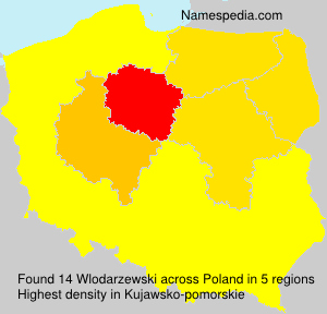 Surname Wlodarzewski in Poland
