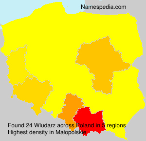 Surname Wludarz in Poland