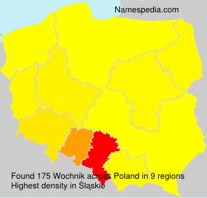 Familiennamen Wochnik - Poland
