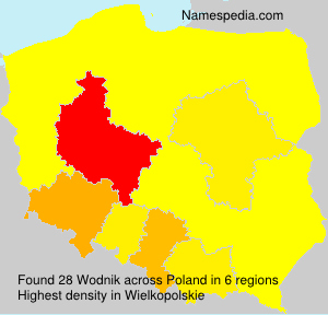 Surname Wodnik in Poland