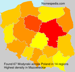 Surname Wodynski in Poland