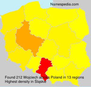 Surname Wojciech in Poland