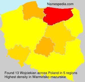 Surname Wojciekian in Poland