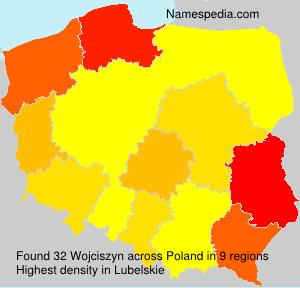 Surname Wojciszyn in Poland