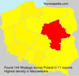 Familiennamen Wojdyga - Poland