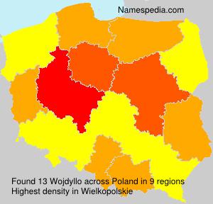 Familiennamen Wojdyllo - Poland