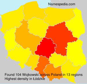 Surname Wojkowski in Poland