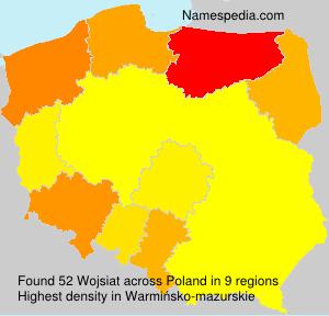 Surname Wojsiat in Poland