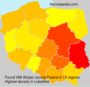 Surname Wojtan in Poland