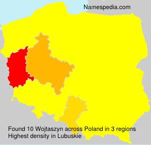Surname Wojtaszyn in Poland