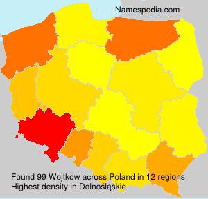 Surname Wojtkow in Poland