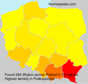 Surname Wojton in Poland