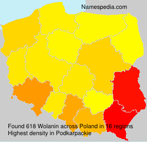 Surname Wolanin in Poland