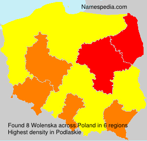 Surname Wolenska in Poland