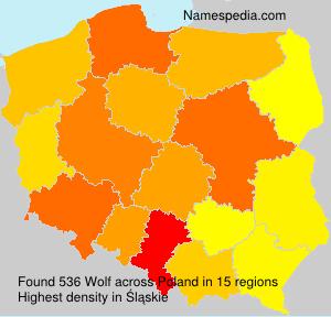 Familiennamen Wolf - Poland