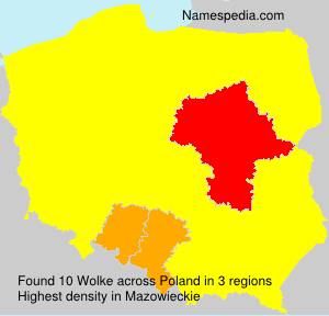 Surname Wolke in Poland