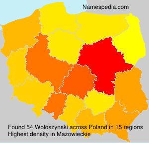 Familiennamen Woloszynski - Poland