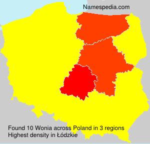 Surname Wonia in Poland