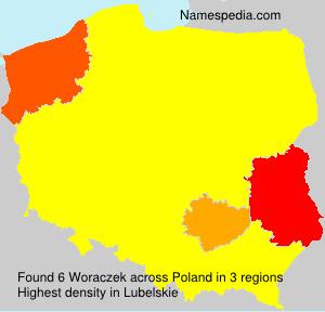 Surname Woraczek in Poland