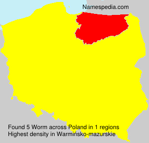 Surname Worm in Poland