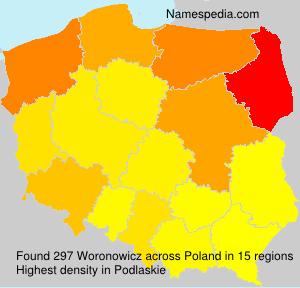 Surname Woronowicz in Poland